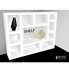 Shelf template vector
