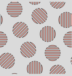 simple seamless striped circles pattern vector image