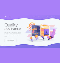 Software testing landing page concept vector