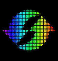 Spectral colored pixel refresh icon vector