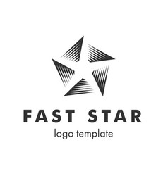 stylized linear shape star logo design template vector image