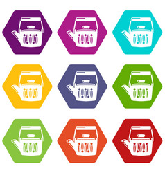 Teatime icons set 9 vector