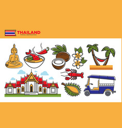 thailand travel destination promotional poster vector image