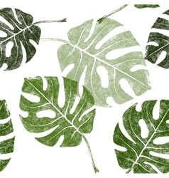 Tropical leaves seamless vector