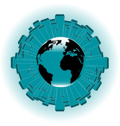 urban planet earth vector image