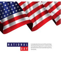Usa national day template design vector