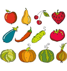 Vegetables fruit vector