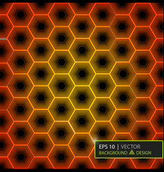 Virtual futuristic user interface of hexes vector