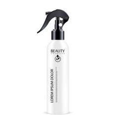 white sprayer cosmetics bottle with black vector image