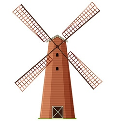 Windmill made of wood vector