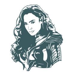 Wonder woman superhero vector