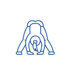 Yoga line icon concept flat symbol vector