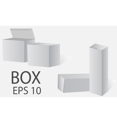 Box White packing on a light background vector image