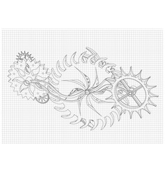 cogwheels on a white vector image vector image