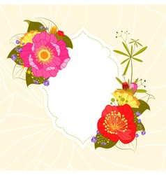 Colorful Flower Garden Party Invitation vector image vector image
