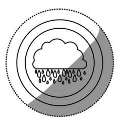 contour cloud rainning icon vector image
