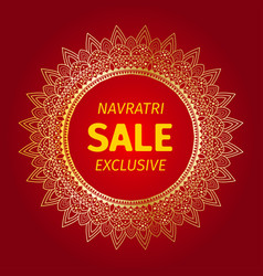happy navratri mandala design background vector image
