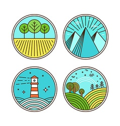 icons and logo design elements vector image vector image