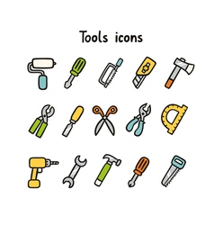 Tools icons vector image vector image