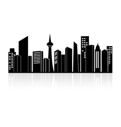Urban landscape or city skyline vector image vector image