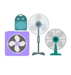ventilation devices set vector image