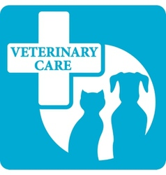 veterinariry care icon with dog and cat vector image vector image