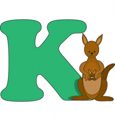k is for kangaroo vector image vector image
