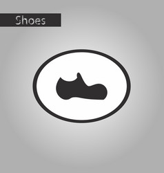 black and white style icon man shoe vector image