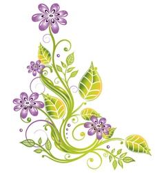 Floral element vector image
