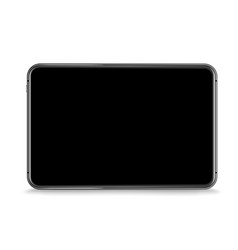 modern tablet device mockup isolated on white vector image