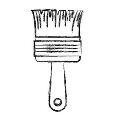 paint brush icon monochrome blurred silhouette vector image