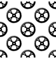 Pinions and gears seamless pattern vector image vector image