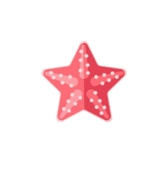 Pink Starfish Primitive Style Childish Sticker vector image vector image