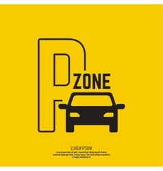 Pointer to the car parking zone vector image vector image
