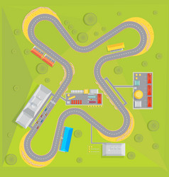 racing course flat composition vector image