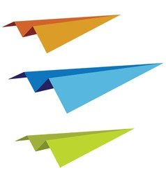 set of paper planes vector image vector image