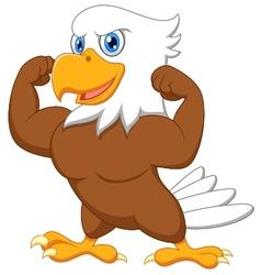 Strong eagle cartoon vector