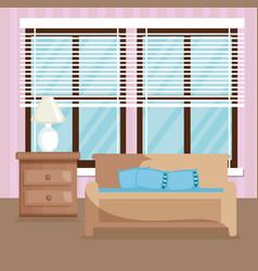 elegant living room scene vector image