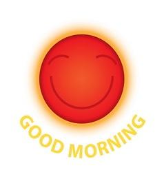 morning sun smile vector image
