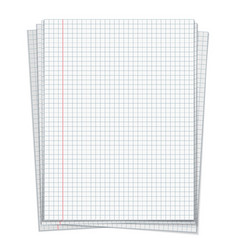 sells notebook papers on white background vector image