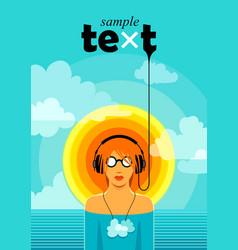 summer music vector image