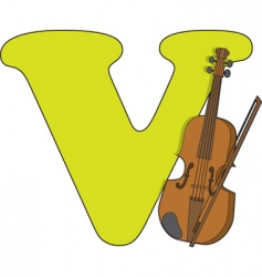 v is for violin vector image