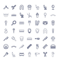 49 barber icons vector
