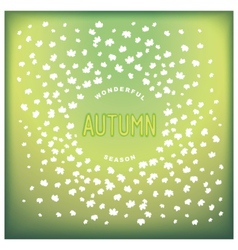 Abstract autumn design cover vector image