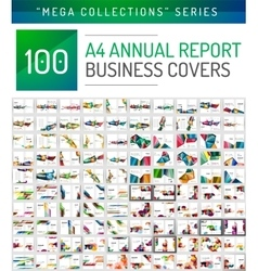 Annual report covers mega collection vector