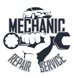 auto mechanic symbol vector image