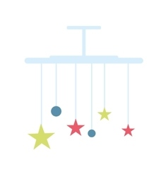 Baby bed carousel vector