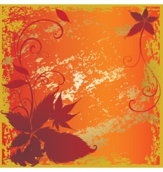 background with colorful autumn leaves vector image