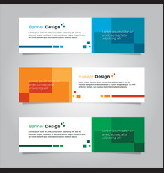 Banner design template set with monotone colors vector