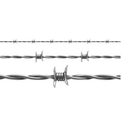 barbed wire seamless pattern vector image